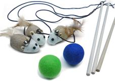 sisal cat teaser toys plus felted wool cat ball toys